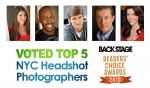 Top 5 NYC Headshot Photographers - Backstage Readers' Choice 2010